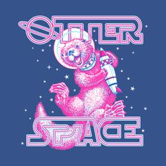 otter t-shirts designed by CMButzer as well as other otter merchandise at TeePublic. Quirky Gifts, Unique Gifts, Otter Tattoo, Thing 1, Space Race, Otters, Cute Art, Screen Printing, Ink