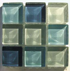 "Lumiere 1"" Glass Mosaic Tiles - River Run Beach Decor | Nautical Decor | Tropical Decor | Coastal Decor"