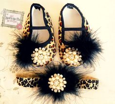 Glamour+baby+girl++Leopard+shoes+and+por+TheBabyBellaBoutique,+$28.99