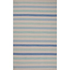 Pura Vida Wool Flat Weave Blue Area Rug