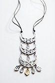 antiqued-metal crescent necklace | J.Jill