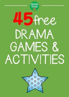 FREE Drama Games and Drama Activities for Middle School / High School – Vicki Tillman – art therapy activities Drama Games For Kids, Act For Kids, Drama Activities, Improv Games For Kids, Kids Games To Play, Theatre Games, Teaching Theatre, Drama Theatre, Music Theater