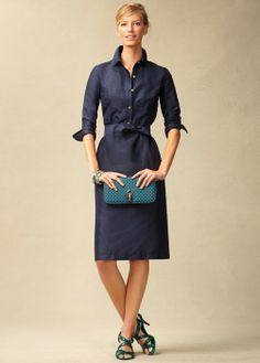 I like a shirt dress - but not too short and not too fitted.