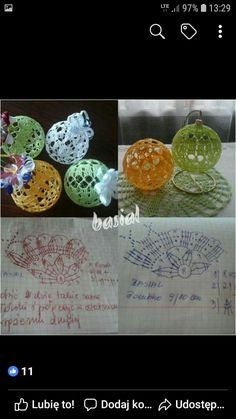 Image gallery – Page 306174474664050877 – Artofit Victorian Christmas Ornaments, Crochet Christmas Ornaments, Christmas Tree Decorations, Christmas Bulbs, Christmas Gifts, Crochet Ball, Crochet Home, Crochet Tablecloth, Diy And Crafts