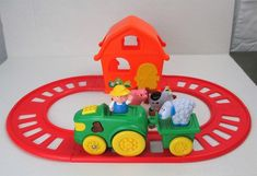 Navystar Preschool Train Farmer Animals Sound Light Action Spinning Car Track  #Navystar