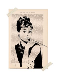 I like this display for the art maybe frame some with a cool tape....audrey hepburn dictionary art