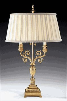 Lumiere Brass Lamp Fine, French Lighting. DesignNashville.com