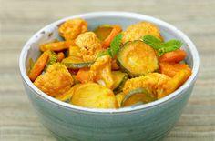 Wok-fried vegetable curry - Tesco Real Food