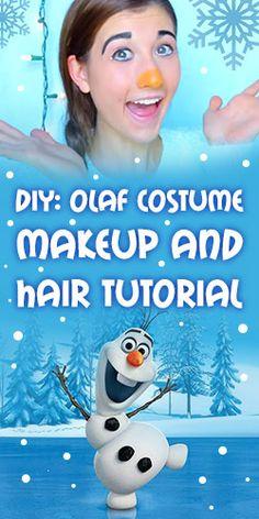 Olaf From Frozen ❄ Costume, Makeup + Hair Tutorial Disney Land, Run Disney, Winter Ideas, Holiday Ideas, Fall Halloween, Halloween Makeup, Frozen Makeup, Frozen Musical, Frozen Costume