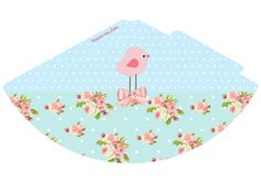 Pink Bird in Shabby Chic: Free Printable Kit. Shabby Chic Party, Party Printables, Free Printables, Bird Clipart, Bird Party, Large Paper Flowers, Pink Bird, Beach Mat, Birthdays
