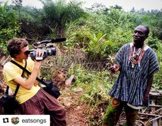 Repost from @eatsongs  #tbt to filming Ntzu after drinking freshly-tapped palm wine. Using the classic #vx1000 camcorder.