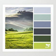 {+tuscan+hues+}+Art+Print+by+Design+Seeds+-+$16.00
