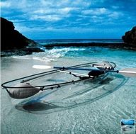 Clear boat in clear water?