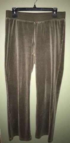 Cabi Women's Velour Lounge Wide Leg Pants Green Size Medium  | eBay