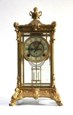 Lot: Fine French Gilt-Bronze & Malachite Mantel Clock, Lot Number: 0270, Starting Bid: $1,500, Auctioneer: Preston Hall Gallery, Auction: Fine Art, Antiques, Books, Jewelry, Bronzes, Date: February 26th, 2013