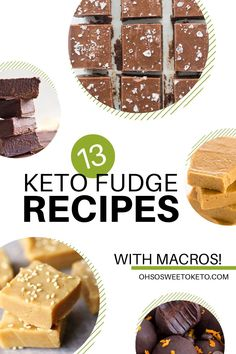 A low carb, high-fat diet like the ketogenic diet doesn't mean you can't enjoy fudge! Here are 13 keto fudge recipes to satisfy your sweet tooth. Fudge Recipe With Cocoa, Strawberry Fudge Recipe, Chocolate Peanut Butter Fudge, Salted Caramel Fudge, Low Carb Peanut Butter, Mint Chocolate Chips, Fudge Recipes, Dessert Recipes, Low Sugar Recipes