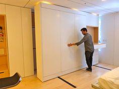 Graham Hill's Amazing LifeEdited Apartment. moving wall