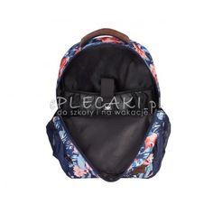 ce618e554774b Plecak szkolny młodzieżowy Head granatowy w kwiaty dla dziewczyny
