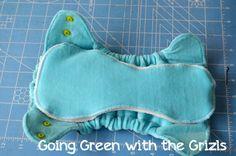 GOOD HYBRID TUTORIAL.  Make Your Own Cloth Diapers! - Homespun Aesthetic