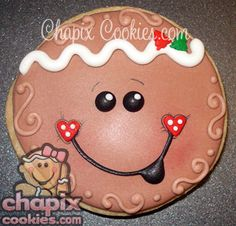 I am a sucker for all things Gingerbread men. This is adorable. Gingerbread Crafts, Christmas Gingerbread, Gingerbread Cookies, Gingerbread Houses, Man Cookies, Cute Cookies, Cupcake Cookies, Christmas Goodies, Christmas Treats