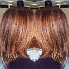 Balayage by Salonl Hair Color Auburn, Auburn Hair, Brown Hair Colors, Hair Color And Cut, Cool Hair Color, Medium Hair Styles, Curly Hair Styles, Great Hair, Hair Highlights