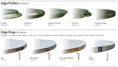 Image result for BRASS PLATE TABLE EDGE PROFILE Brushed Stainless Steel, Dog Bowls, Profile, Brass, Plates, Stone, Table, Image, Furniture