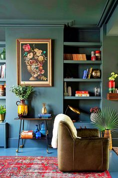 Quiet substituted great living room design and decor checklist right here salon bleu Modern Living Room Colors, Formal Living Rooms, Living Room Designs, Living Room Paint, Living Room Decor, Living Area, Small Living, Bedroom Decor, Wall Decor