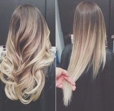 Ombre Hairstyles for Long Hair - Curled and Straight