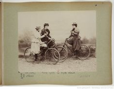 F. 20. Femmes cyclistes sur bicyclette Whitworth; Gallery Wall, Baseball Cards, Collection, Prints, Movie Posters, Image, Printable, Graphics, Sport Photography