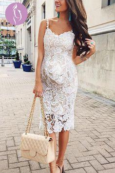 4bc7943546c Maternity Sexy Lace Plain Sleeveless Formal Dress