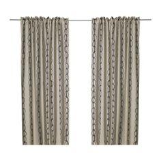 VILMIE  Pair of curtains, black/beige  $29.99