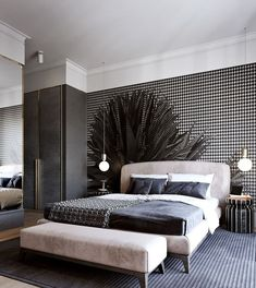 50 Phenomenal Modern Bedroom Ceiling Designs 2018 - Page 19 of 46 Master Bedroom Interior, Modern Bedroom Furniture, Small Room Bedroom, Bedroom Apartment, Bedroom Lamps, Bedroom Wall, Bedroom Decor, Bedroom Ideas, Bedroom Lighting