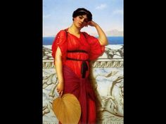 A Classical Lady - John William Godward
