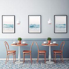🌾💕 Ocean Art, Ocean Waves, Turquoise Art, Blue Poster, Triptych Art, Coastal Wall Art, Wall Art Designs, Beach Print, Office Art