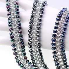 Chainmaille Tutorial Beaded European 4in1 Cuff by AussieMaille
