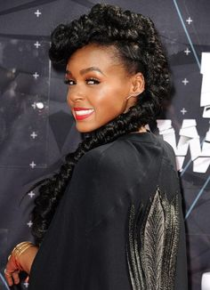 Janelle Monae's epic braid at the 2015 BET Awards