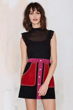 Nasty Gal Vickie Crop Top with ruffle detailing