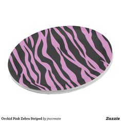 Orchid Pink Zebra Striped Paper Plate  sc 1 st  Pinterest & Golf Ball Sport Pink Paper Plate | Pink paper