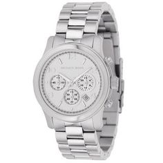 Michael Kors Women's MK5076 Classic Stainless Steel Silver Chronograph Watch | Overstock.com Shopping - Big Discounts on Michael Kors Women's Michael Kors Watches