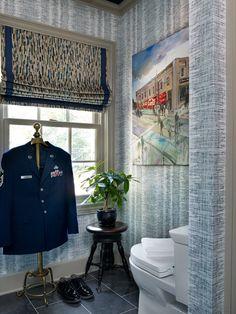 Magnolia Designer Show House - Cartersvile, Georgia - Gentlemans's Dressing Room and Bath Designed by Kandrac & Kole Interior Designs, Ind.