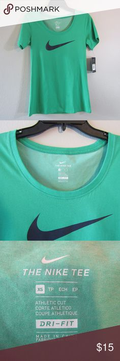 NIKE NWT Green Dry-Fit Size XS & Medium Nike Dry Fit T-Shirt Green short sleeve  Size XS Nike Tops Tees - Short Sleeve