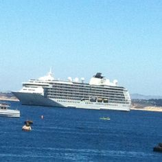 Worlds largest yacht.  The world cruise line.   All residents.  They travel everywhere and it's their homes.