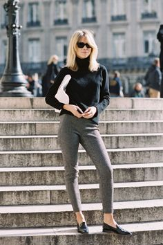 Elin Kling at Paris Fashion Week AW 2013 by Vanessa Jackman -- the type of effortless style I obviously aspire to