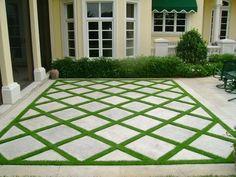 Grass Pavers, No Grass Backyard, Backyard Patio Designs, Backyard Fences, Backyard Landscaping, Backyard Ideas, Patio Ideas, Pavers Ideas, Landscaping Ideas