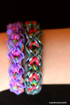 DIY How to Make a Rainbow Loom Dazzle Bracelet - video tutorial
