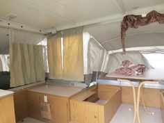 Pop up camper before renovation