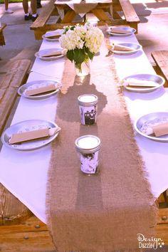 simple western chic themed wedding rehearsal dinner - Design Dazzle