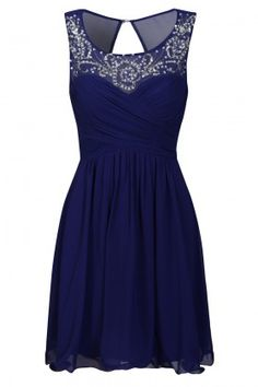 little blue dress... love the rhinestones! This is so pretty!