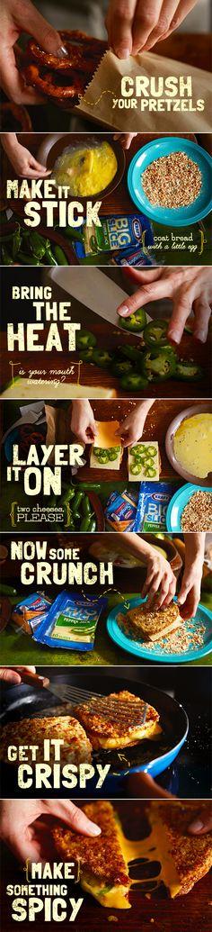 This sounds interesting. Jalapeño Popper Melt Cheese sandwich