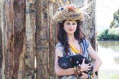 Wild Fashion Shoot with Tasmanian Devil, Eco Fashion, designed and made in Tasmania, Australia.   Directed by Tamika Bannister   Image by Emma Leslie Photography Wild at heart, ethical by nature!